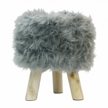 Tabouret pouf fourrure long...