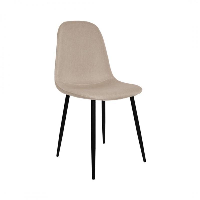 Chaise scandinave en tissus KLARY