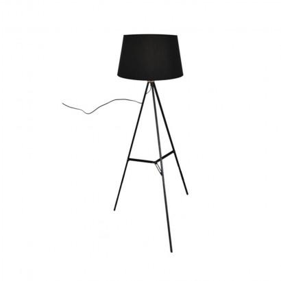 Metal floor lamp Black
