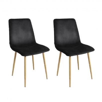 Set of 2 Chair DESIGN Metal...