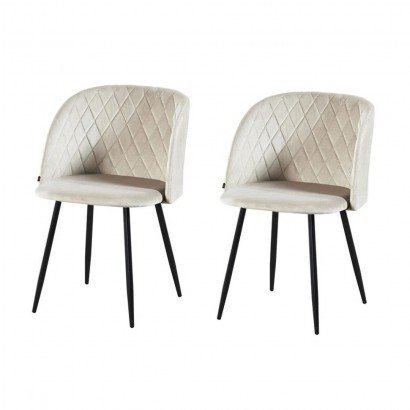 Set of 2 upholstered dining...