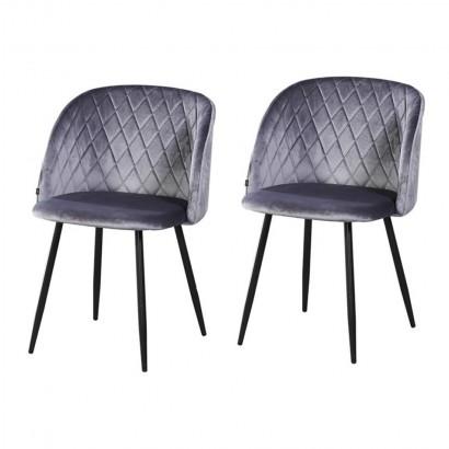 Lot de 2 chaises de salle a...
