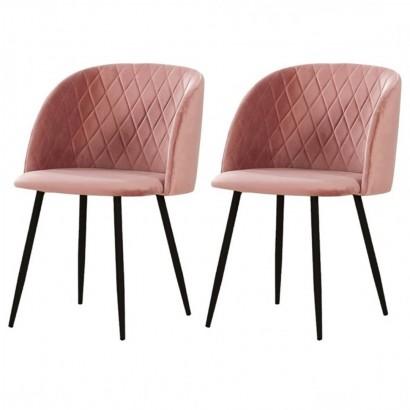 Set of 2 upholstered dining...