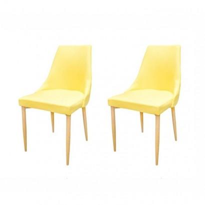 Lote de 2 chaises de salle...