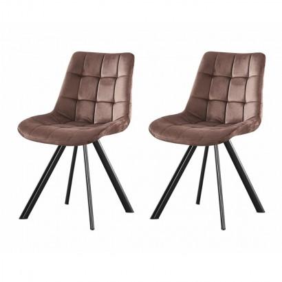 Set of 2 FIOSA chaise en PU...