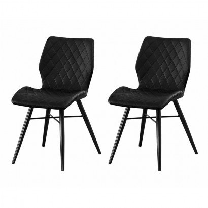 Set of 2 DOM Chaise en PU -...
