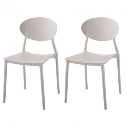 Lot de 2 chaises médaillon...