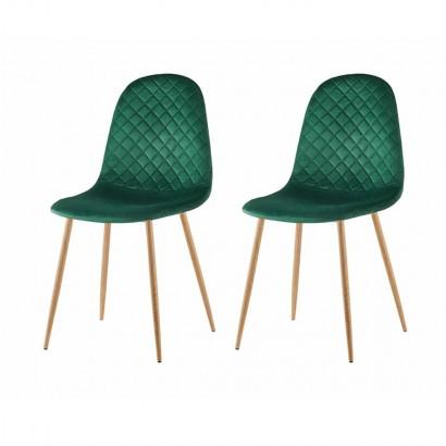 Lot de 2 chaises matelassé...