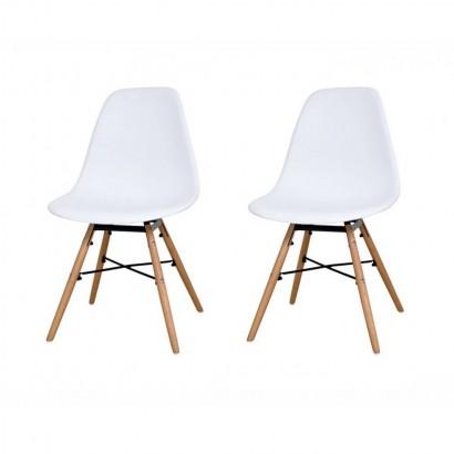 Lot de 2 chaises scandinave