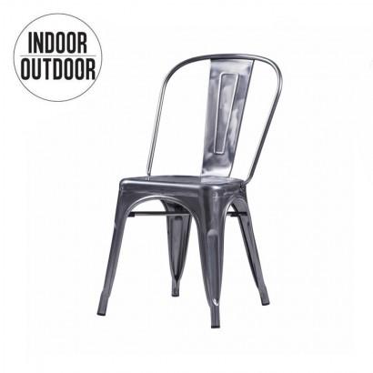 RETRO chaise métal Galvanisé