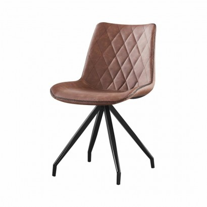 DONIA PU chair - Brown