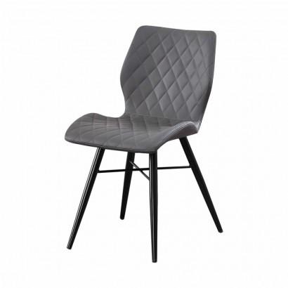 DOM Chaise en PU - Grey - Dom