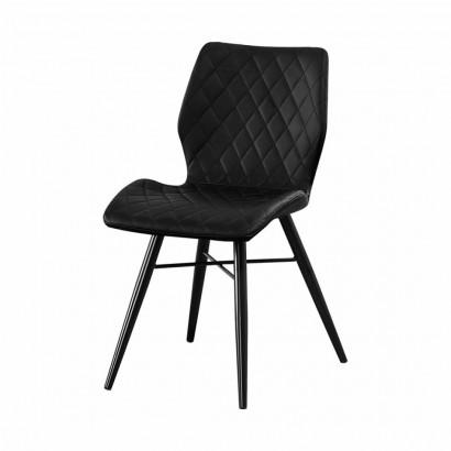 DOM Chaise en PU - Black - Dom