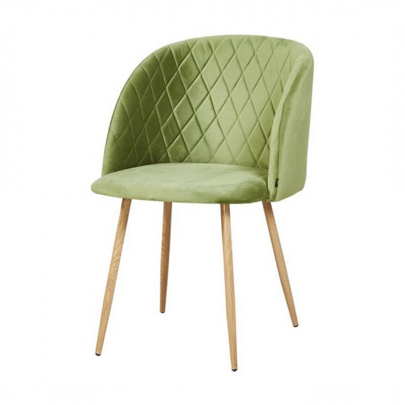 Scandinavian style chair Quilted padded cross-brace chair