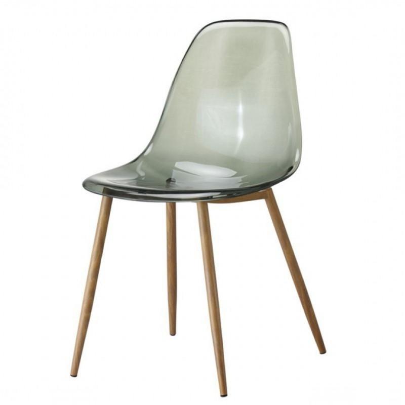 Chaise type scandinave transparente KLARY