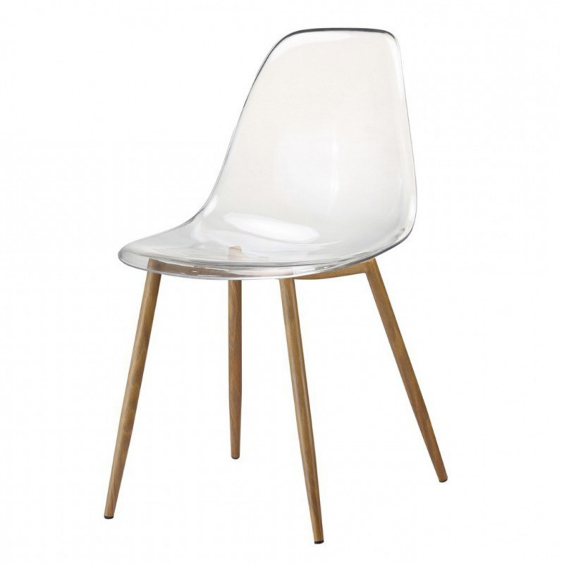 Chaise type scandinave transparente KLARY