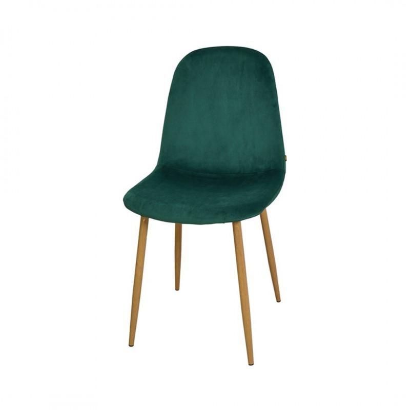 Chaise style scandinave en velours KLARY