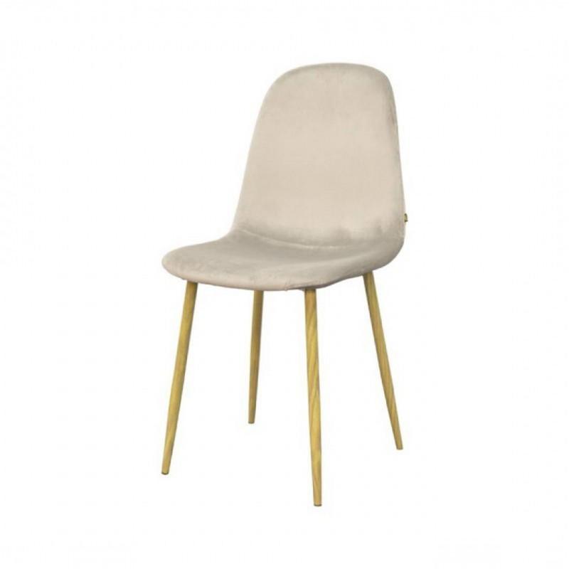 Scandinavian style velvet chair KLARY