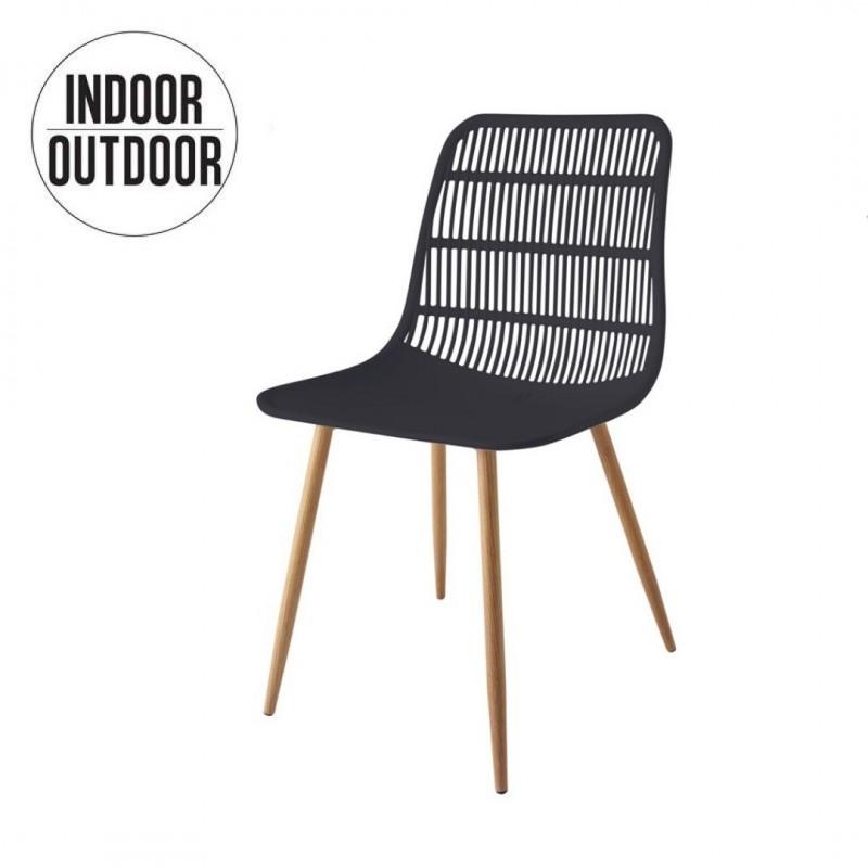 GEORGES Chaise INDOOR/OUTDOOR en PP et pieds en métal