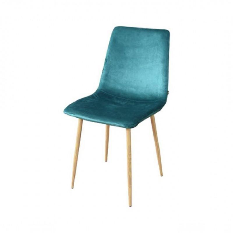 """""""ZAK"""" fluwelen Scandinavische stoel"""