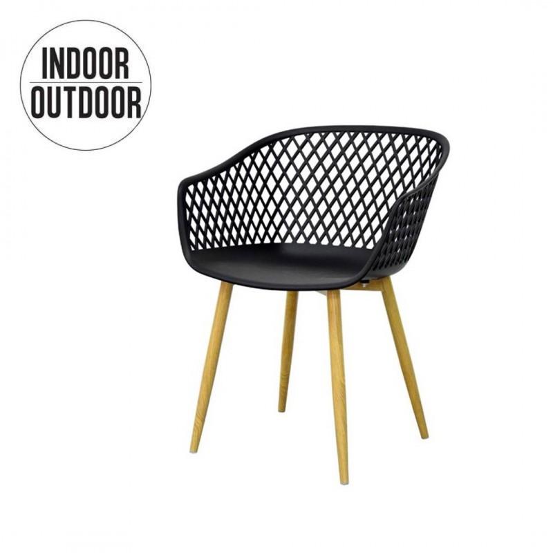 Chaise de salle a manger avec croisillon Indoor/Outdoor MOKA