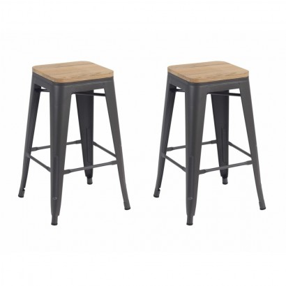 Set of 2 STEF Tabourets en...