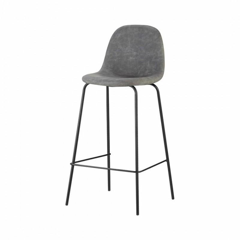 Industrial upholstered bar stool