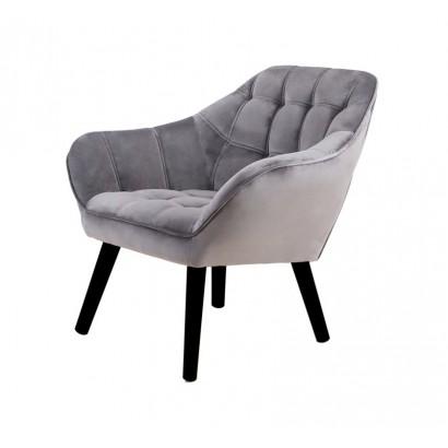 Velvet Armchair OSLO - Grey...