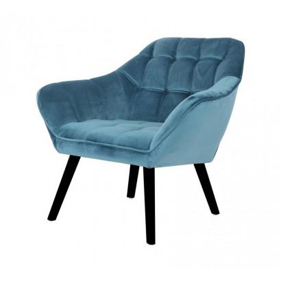 Velvet Armchair OSLO - Blue...