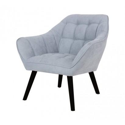 Suede Armchair OSLO - Grey...