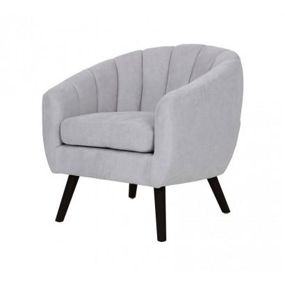 Suede Armchair LINO - Grey...