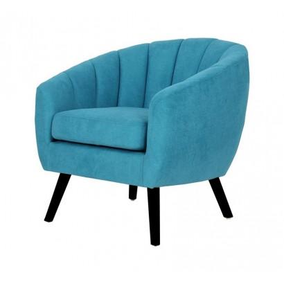 Suede Armchair LINO - Blue...
