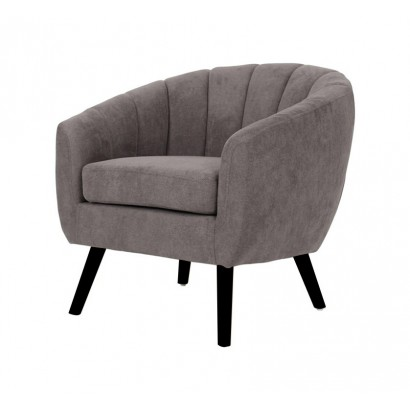 Suede Armchair LINO - Taupe...