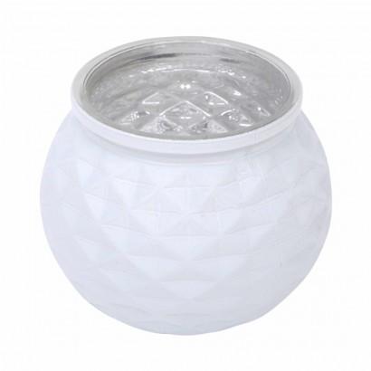 Glazen kaarsenpot - Wit