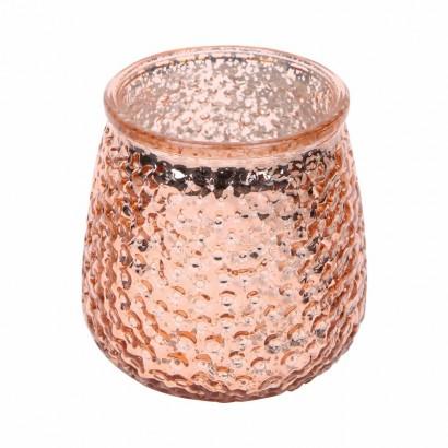 Glazen kaarsenpot - Roze
