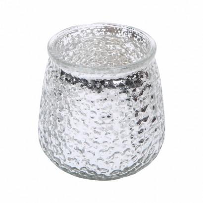 Glazen kaarsenpot - Grijs