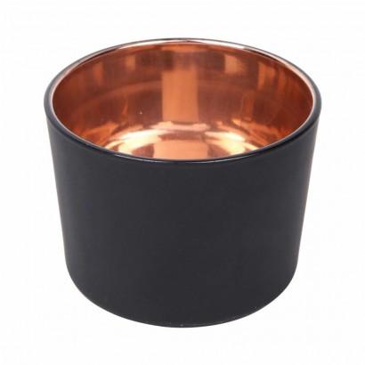 Glazen kaarsenpot - Zwart