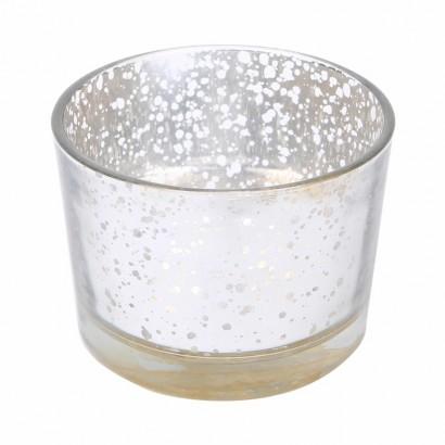 Glazen kaarsenpot - Geel