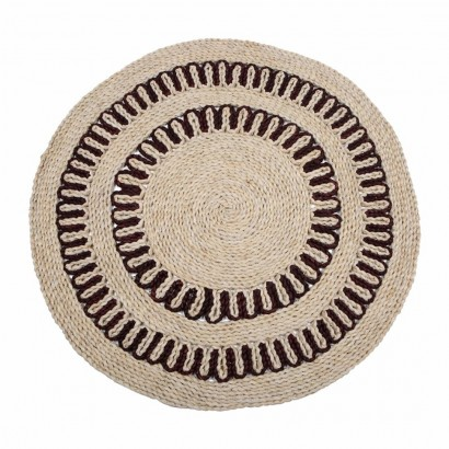 Round carpet in jute...