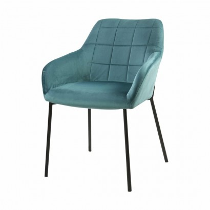 Velvet seat Origa - Blue -...