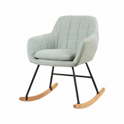 Upholstered rocking chair -...