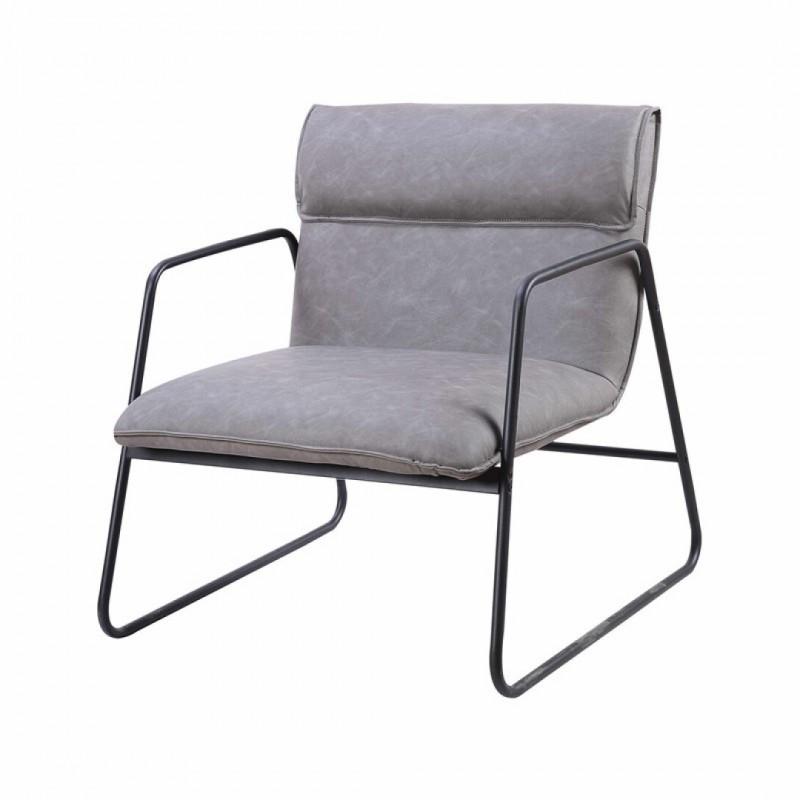 Industriële fauteuil met opgevulde zitting
