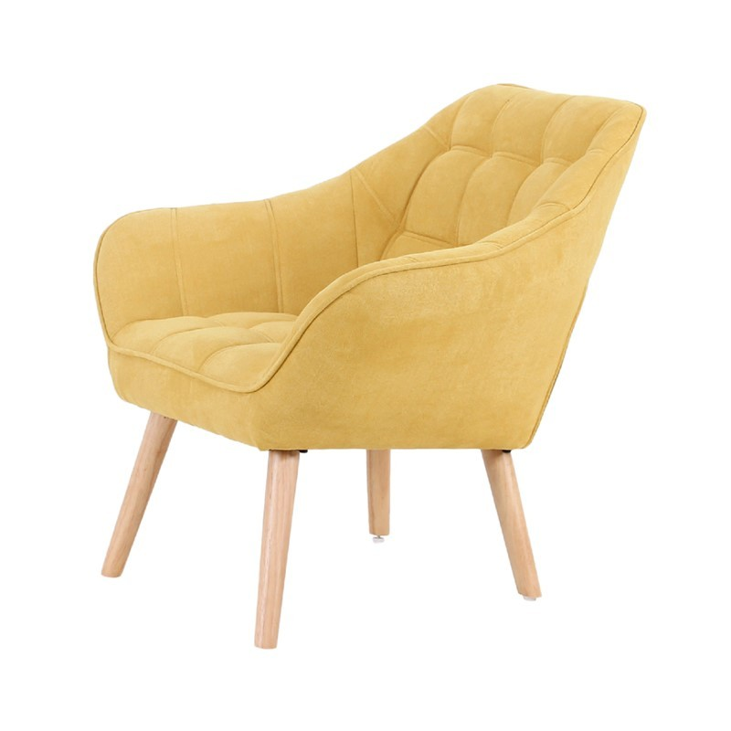 Suedecloth upholstered armchair - OLSO