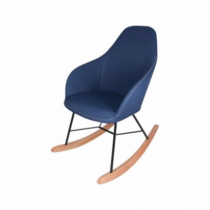 Rocking Chair in Fabric RIZA