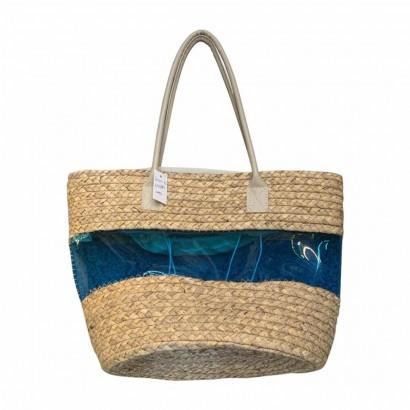 Bag with blue pvc