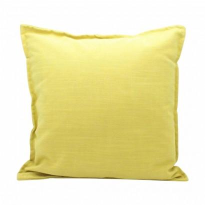 Coussin déhoussable jaune