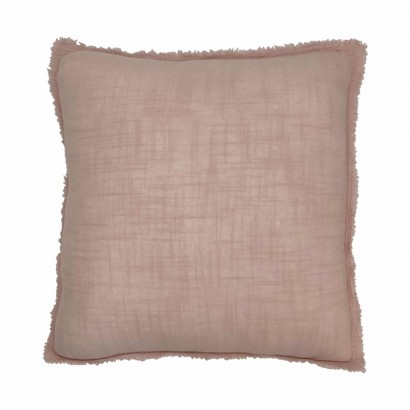 Cushion in pink linen