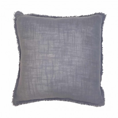 Coussin en lin Anthracite