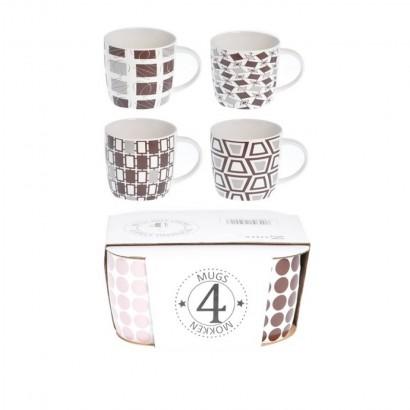 Lot de 4 mugs en céramique...