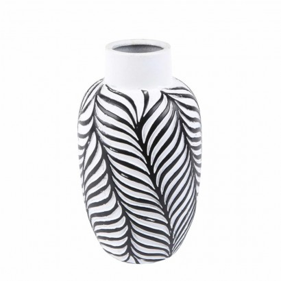 Vase JOY black and white H25